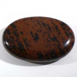 Galet de massage en obsidienne acajou 6cm