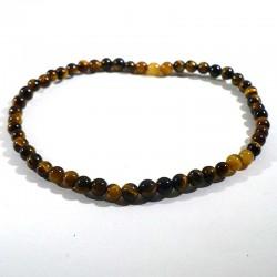 bracelet en oeil de tigre perles rondes de 4mm