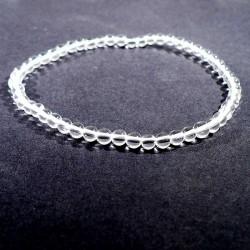 bracelet en cristal de roche perles rondes 4mm