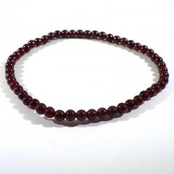 bracelet en grenat pyrope perles rondes 4mm