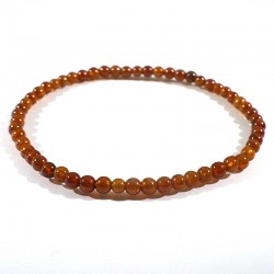 bracelet en grenat hessonite perles rondes 4mm