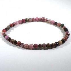 bracelet en rhodonite perles rondes 4mm