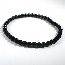 bracelet en onyx noir perles rondes 4mm