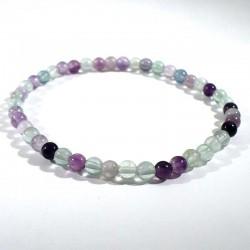 Bracelet en fluorine perles rondes 4mm