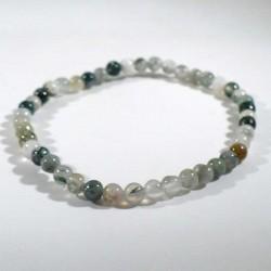 bracelet en agate arbre perles rondes 4mm
