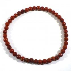 Bracelet en Jaspe rouge perles rondes 4mm