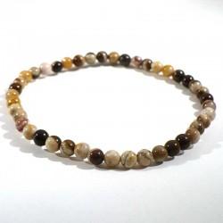 Bracelet en jaspe capuccino perles 4mm