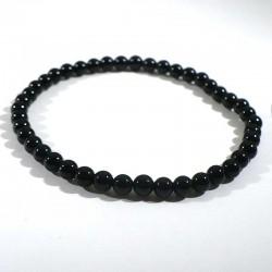 bracelet en obsidienne perles rondes 4mm