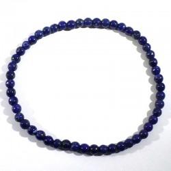 Bracelet en Lapis Lazuli perles rondes 4mm
