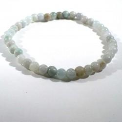 Bracelet en jadéite (jade) perles rondes 4mm