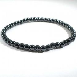 Bracelet en hématite magnétique boules 4mm