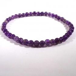 Bracelet en Améthyste perles rondes 4mm