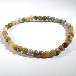bracelet en agate crazy lace perles rondes 4mm
