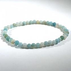 Bracelet en amazonite perles rondes 4mm