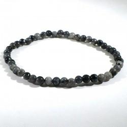 bracelet en larvikite (labradorite) perles rondes 4mm