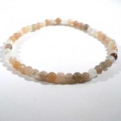 bracelet en pierre de lune (adulaire) perles rondes 4mm