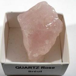 Quartz rose du Brésil - boite de collection 4cm