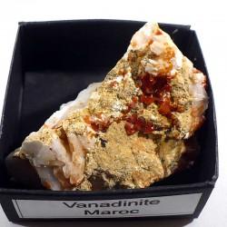 Vanadinite du Maroc - boite de collection 4cm