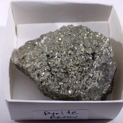 Pyrite du Pérou - boite de collection 5cm