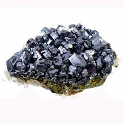 Galène et Cristal de roche sur Chalcopyrite de Bulgarie