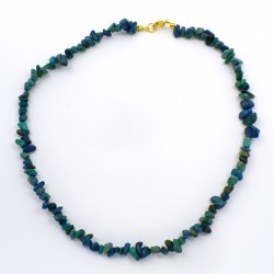 Collier baroque Azurite Chrysocolle