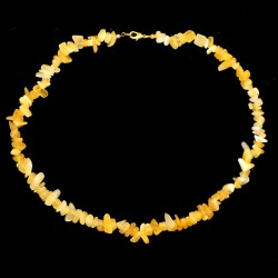 Collier baroque Calcite orange
