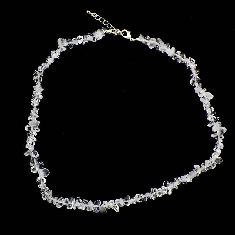 Collier baroque Cristal de roche 42 cm
