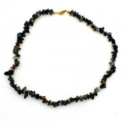 Collier baroque Onyx noir 42 cm