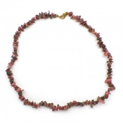 Collier baroque Rhodonite 42 cm