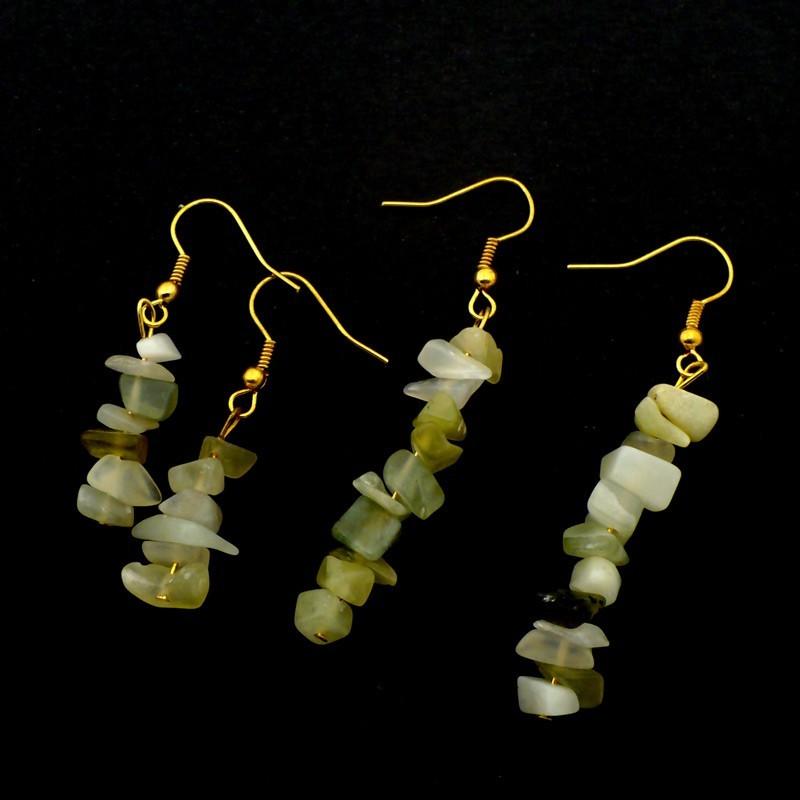 Boucles d'oreilles baroques en Jade