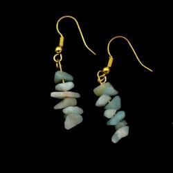 Boucles d'oreilles baroques en Amazonite