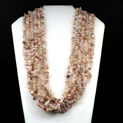 sautoir baroque en Opale rose 90cm