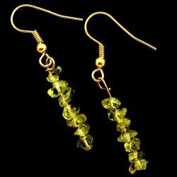 Boucles d'oreilles baroques en Péridot