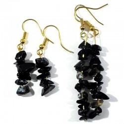 Boucles d'oreilles baroque Onyx noir