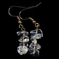 Boucles d'oreilles baroque Cristal de roche