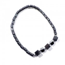 Bracelet Hématite cubes