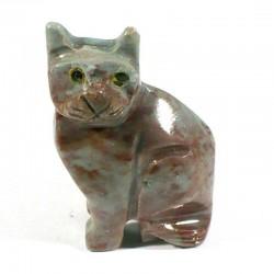 Chat en stéatite du Pérou