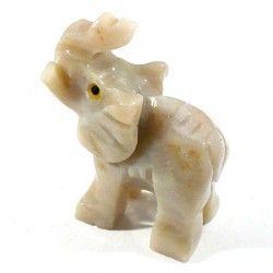 Elephant en stéatite du Pérou