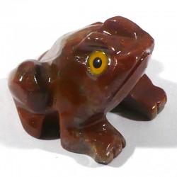 Grenouille en stéatite du Pérou 4cm - animaux collection