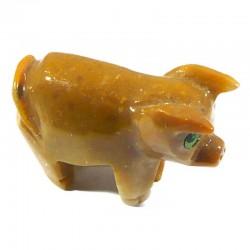 Cochon en stéatite du Pérou 4cm - animaux collection