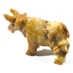 Taureau en stéatite du Pérou 4cm - animaux collection