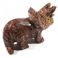 Tricératops en stéatite du Pérou 4cm - animaux collection