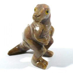 Tyrannausore en stéatite du Pérou 4cm - animaux collection