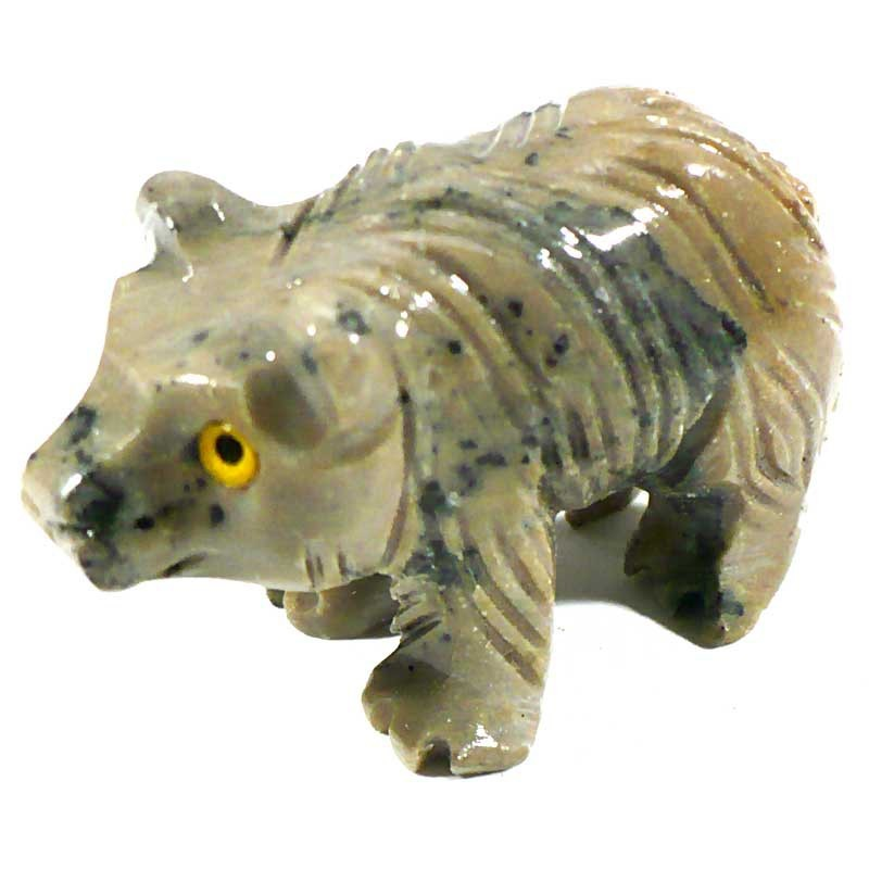 Ours en stéatite du Pérou 4cm - animaux collection