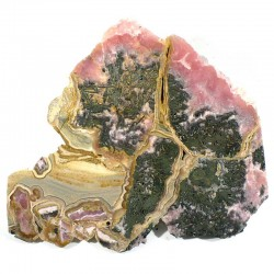 Plaque de rhodochrosite et manganite d'Argentine - collection