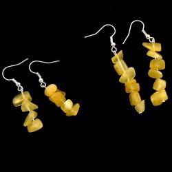 Boucles d'oreilles baroques en calcite orange