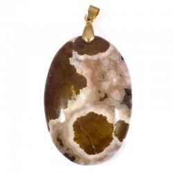 Pendentifs ovales en jaspe orbiculaire