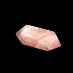 cristal biterminé taillé en quartz rose