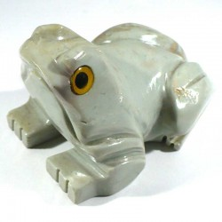 Grenouille en stéatite du Pérou 8cm - figurine de collection