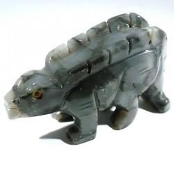Stégosaure en stéatite du Pérou 8cm - figurine de collection